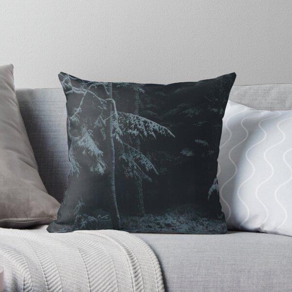 Winter Dark Throw Pillow