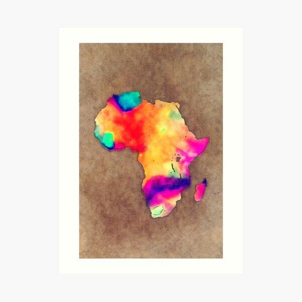 Africa map #africa Art Print