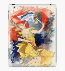 Art nouveau French newspaper ad, woman, satyr iPad Case/Skin