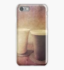 Pair of Earthenware Ceramic Pottery Cups iPhone Case/Skin