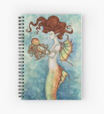 Mermaid and Octopus Spiral Notebook