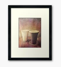 Pair of Earthenware Ceramic Pottery Cups Framed Print