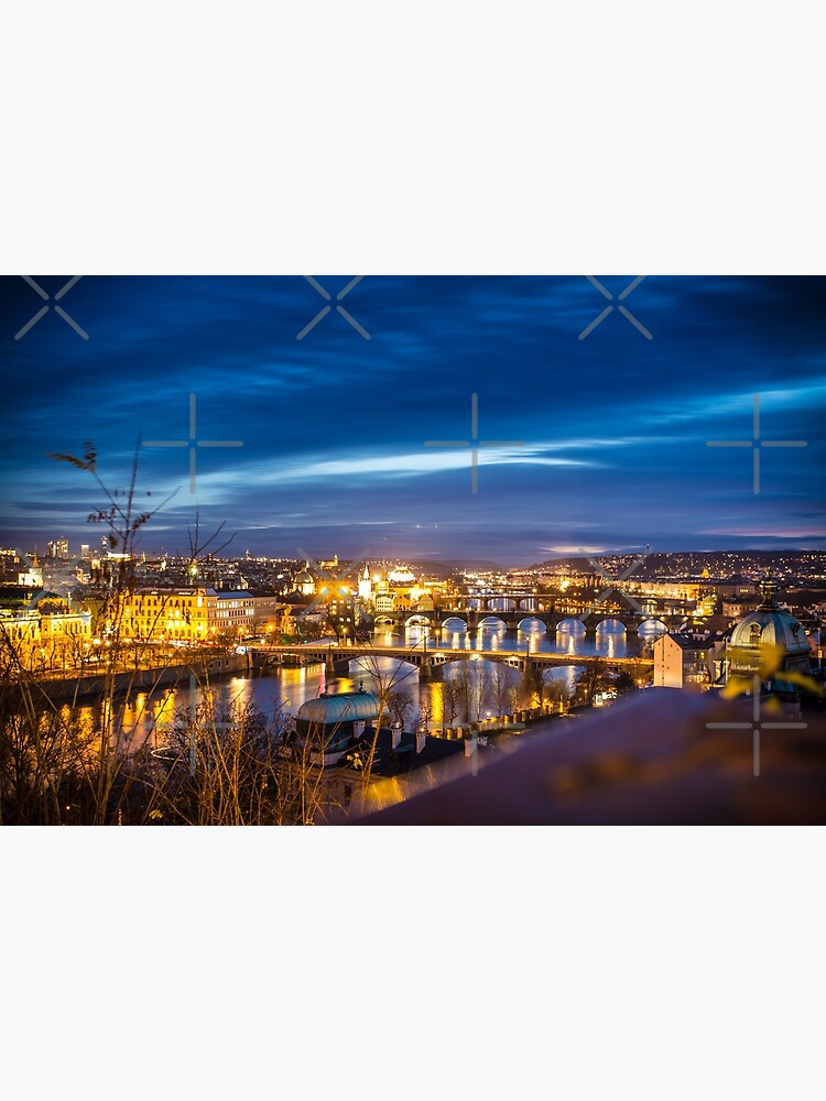 Prague - the golden city in the night by nobelbunt