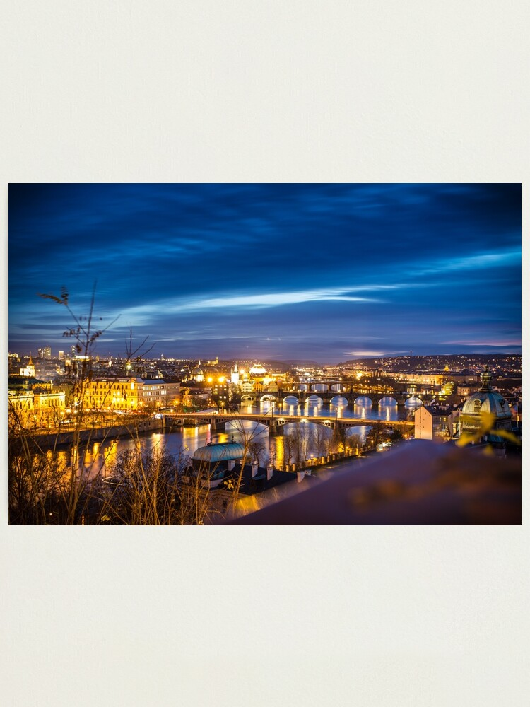 Alternate view of Prague - the golden city in the night Photographic Print