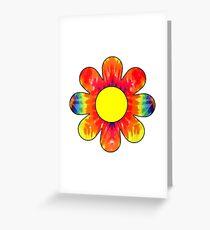 HIPPIE BOHO FLOWER HIPPY COLORFUL PATTERN DAISY SUNFLOWER 3 Greeting Card