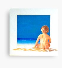 Child On the Beach Canvas Print