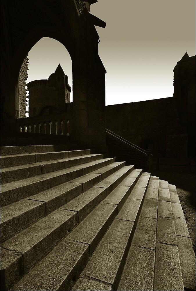 Steps of Vitre Castle by ragman