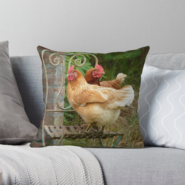 "We Are The ""CHAIRful"" Chooks Of Tranquillity! Chooks  - NZ Throw Pillow"