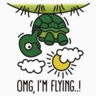 OMG, I'm flying! - Turtle by LaundryFactory