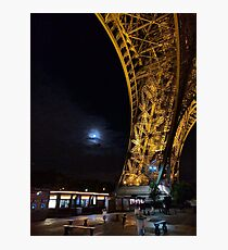 Super Moon at Eiffel Tower, Paris Photographic Print
