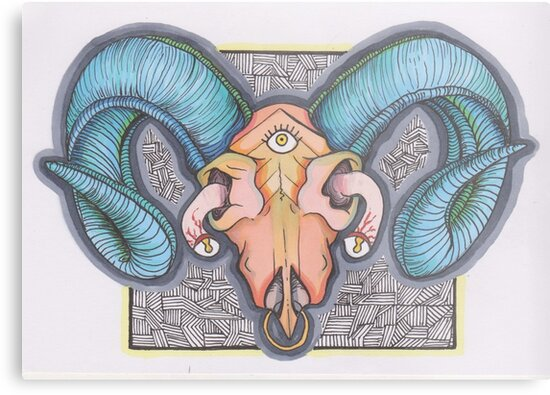 Ram Skull by Ruby Sparrow