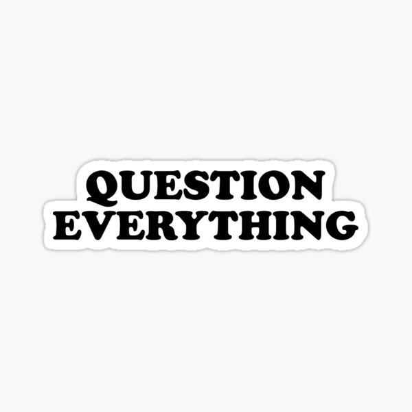 Question Everything Sticker