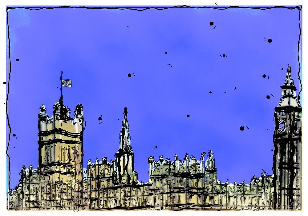 Houses of Parliament London by john247