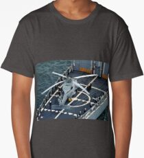 Sikorsky SH-60B Seahawk, Helipad, USN, United States Navy Long T-Shirt