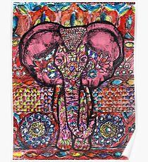 India inspired elephant Poster