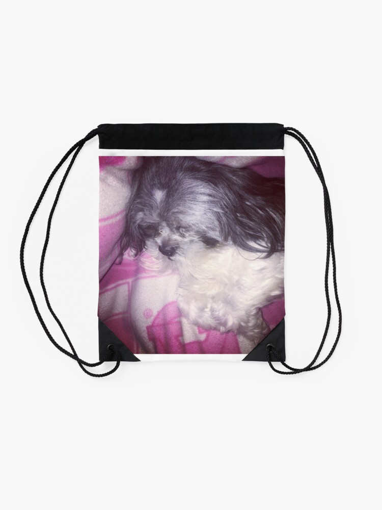 Alternate view of Puppy Love  Drawstring Bag