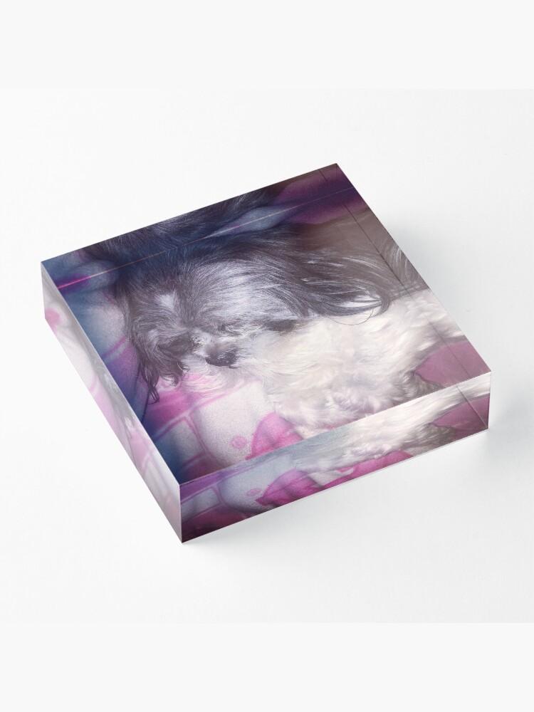 Alternate view of Puppy Love  Acrylic Block