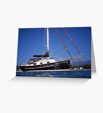 Caraway at Anchor off Corsica Greeting Card