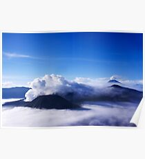 Mount Bromo and Batok seen from Mount Penanjakan Poster