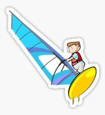 Windsurfing Cartoon Sticker