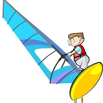 Windsurfing Cartoon by MegaSitioDesign