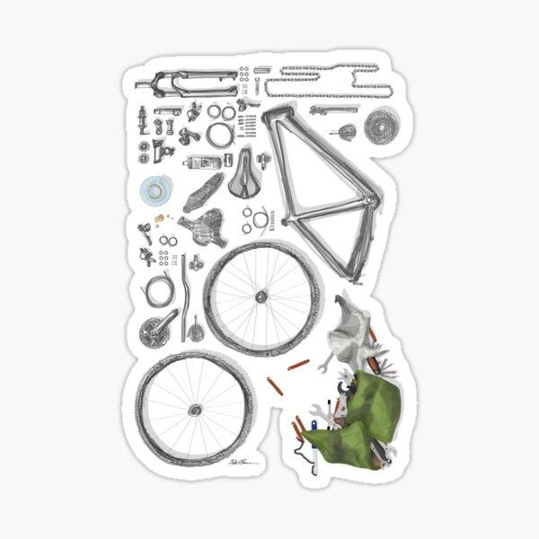 Bike's flatlay Sticker