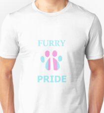 Transgender Furry Pride Paw T-Shirt