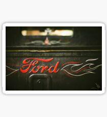 Rat Rod Ford Detail Sticker