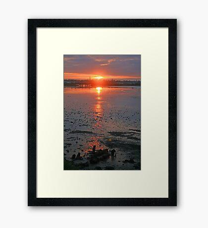 Sundown on the Bay Framed Print