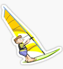 Windsurf Summer Cartoon Sticker