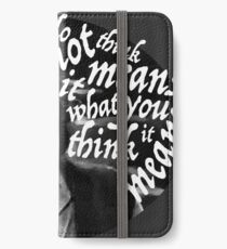 I do not think it means.... iPhone Wallet