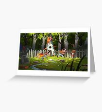 The Garden Fight Greeting Card