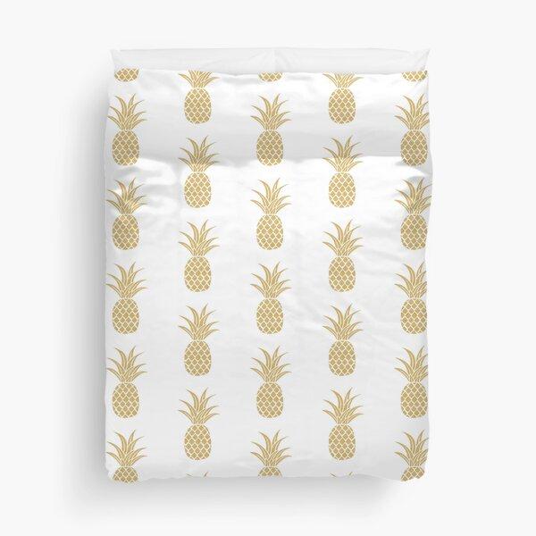 Gold Pineapple  Duvet Cover
