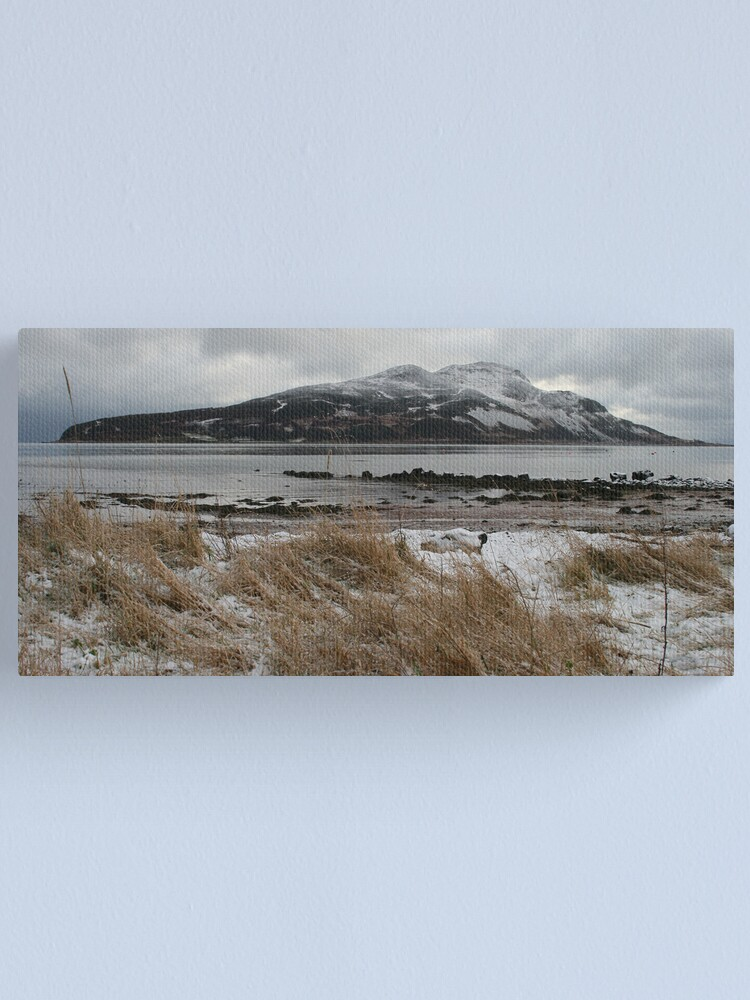 Alternate view of Holy Isle in winter Canvas Print