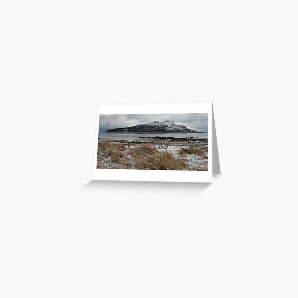 Holy Isle in winter Greeting Card