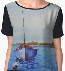Sailboat by Ed Capeau Women's Chiffon Top