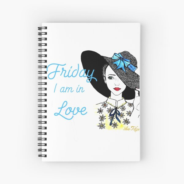 Friday I am In Love Spiral Notebook