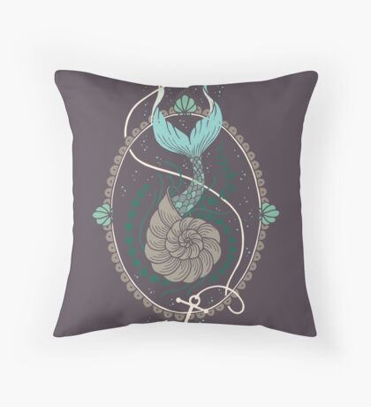 Mermaid Shell Throw Pillow