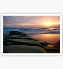 Beach Sunrise, Sunshine Coast, Australia Sticker