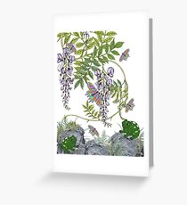 FROG AND BUTTERFLIES Greeting Card