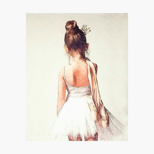 Off to Ballet Class: Sweet Ballerina Photographic Print