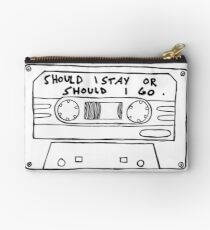 Should I Stay or Should I Go Cassette  Studio Pouch