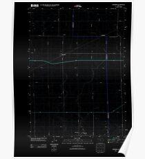 USGS TOPO Map Iowa IA Knierim 20130415 TM Inverted Poster