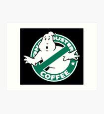 Ghostbusters Coffee Art Print