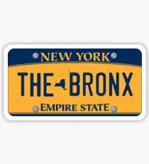 'The Bronx' New York License Plate Sticker