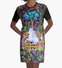 The Last Unicorn in Captivity Graphic T-Shirt Dress