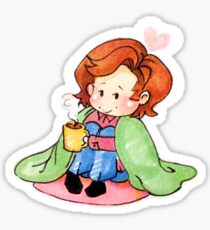 Tea and Blankets Sticker