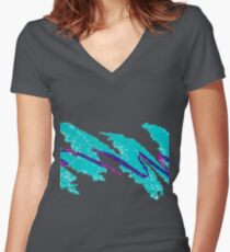 Jazzy Dixie Cup Women's Fitted V-Neck T-Shirt