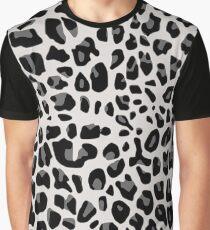 Snow Leopard Print Graphic T-Shirt