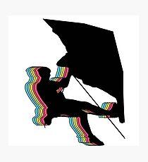 Kletterer im Überhang.  Design psychedelic Photographic Print